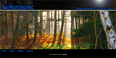 Web design for a suffolk based photography business Malphotographic